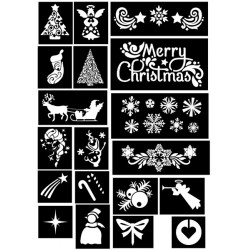 plantillas pegatinas Set Navidad