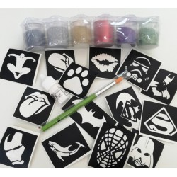 Glitter Tattoo Set Superheroes