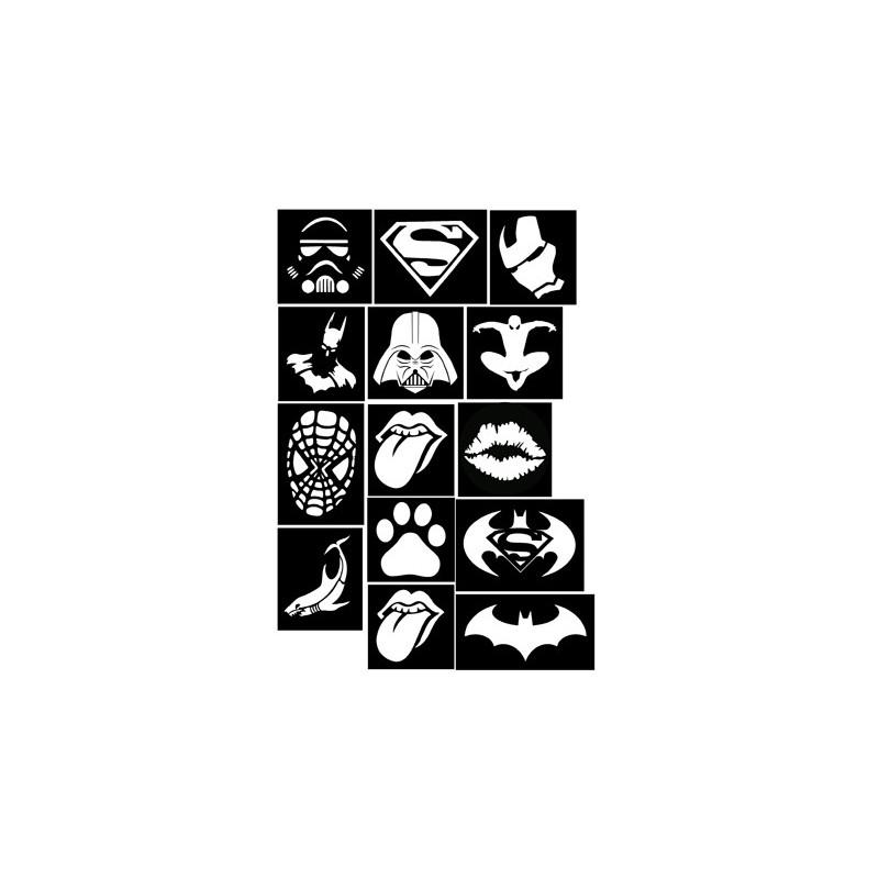 Set para tatuajes temporales - Superheroes