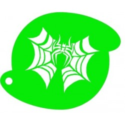 plantilla para pintacaras araña Halloween
