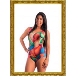 Lora Art Swimwear Collection 7 - Cubism 4 talla L