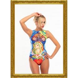 Lora Art Swimwear Collection 1 - Blooming Skull talla XS