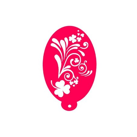 plantilla para pintacaras hibisco floral