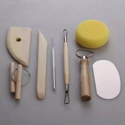 Set de herramientas para modelar arcilla