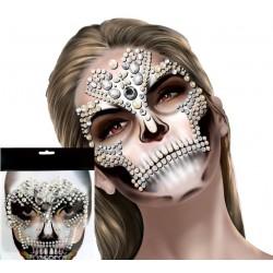Face Gems - diamantes para la cara - Halloween calavera azucar- modelo H5