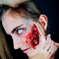 Prótesis de zombie, silicona