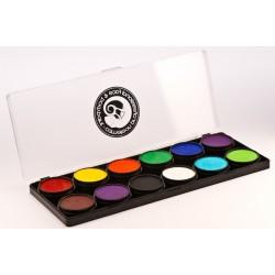 Paleta de 12 colores puros Cameleon 12 x 10g