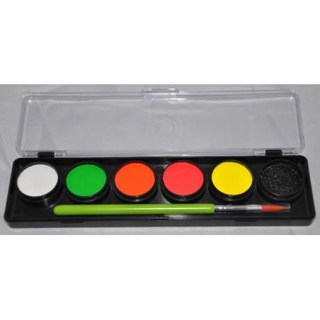 Adult Party Paleta de 6 colores fluor Cameleon 6x8g