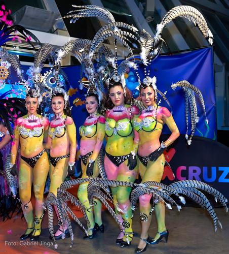 vestuario y bodypainting comparsa Rio Orinoco